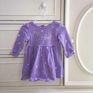 Gymboree Magic Sparkles Purple Knit Dress